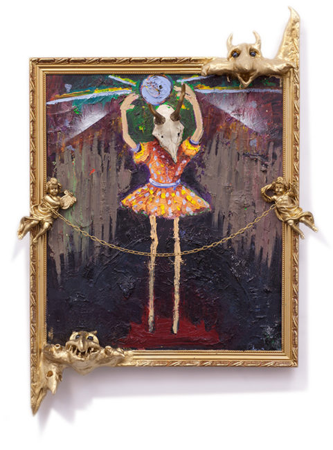 Ballerina, mixed media, 89x68cm, 2012