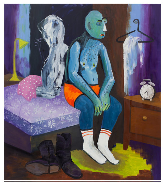 Athlet at home, 180x160cm, 2015