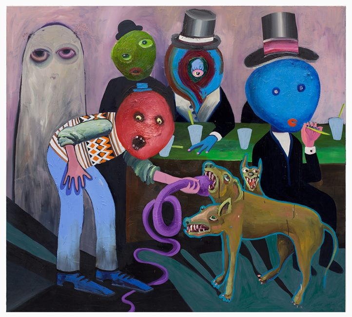 In a bar, oil on canvas, 180 x 190 cm, 2015