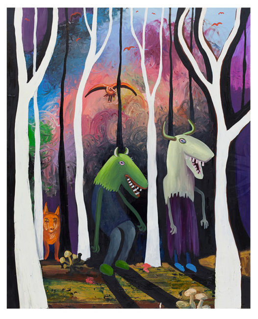 A walk in the forest, 160x130cm, oil on canvas, 2015