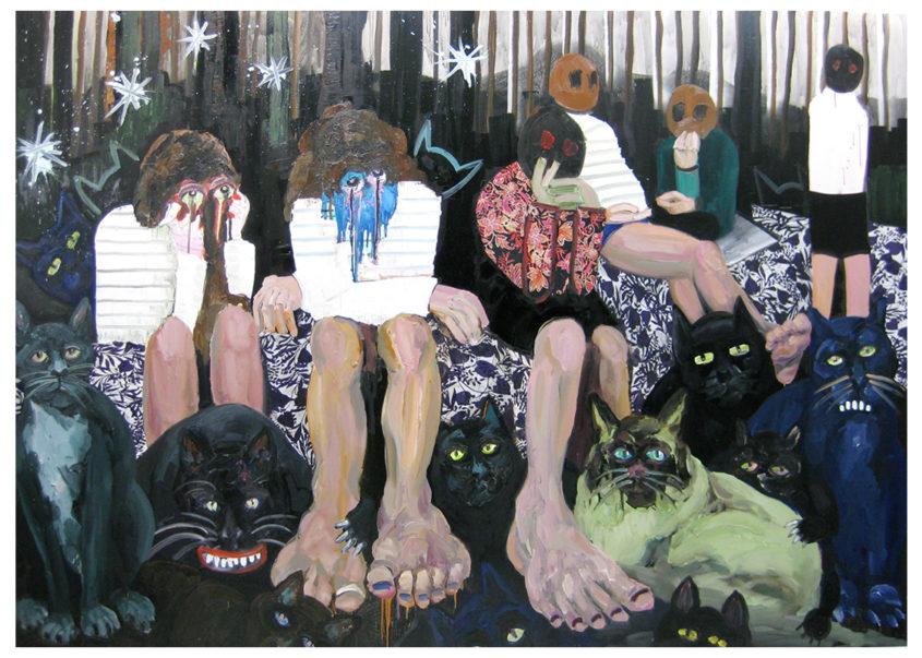 Katzens, oil on canvas, 200x280cm, 2009