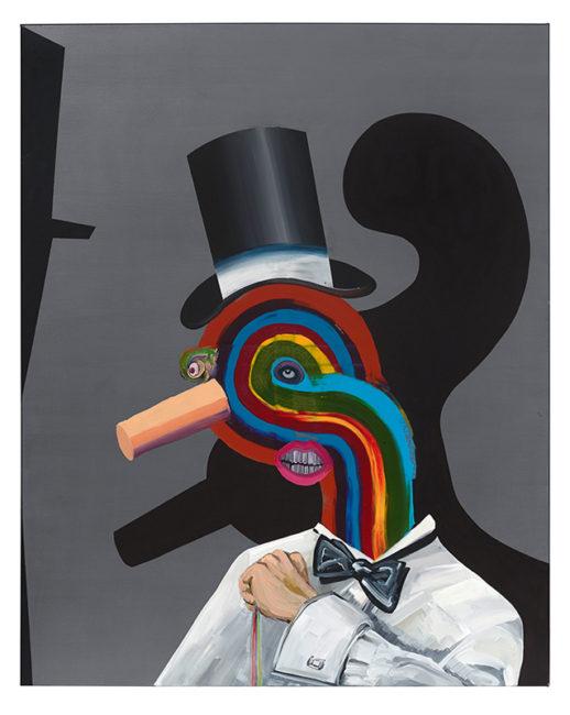 Mr Rainbow,  oil on canvas, 150x120cm, 2014