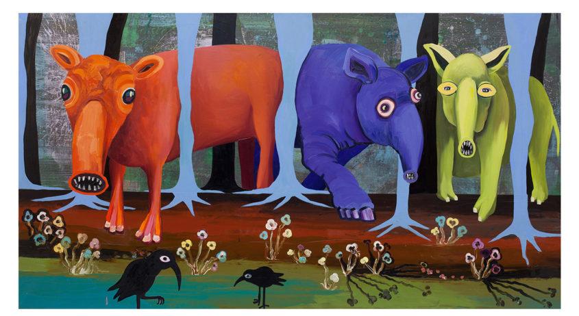 Tapierwald, oil on canvas, 130x240cm, 2015