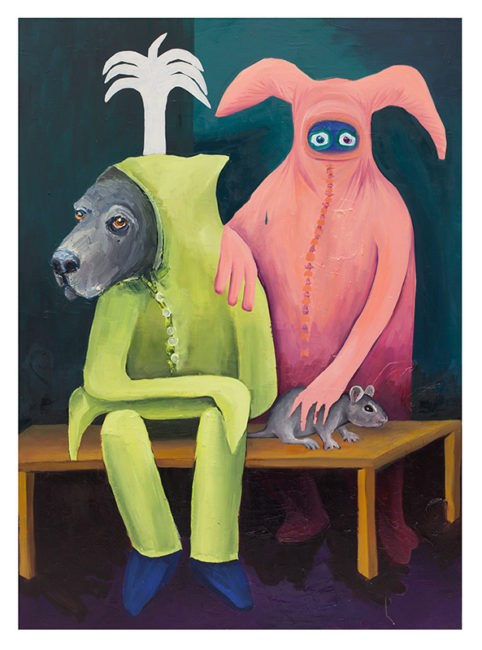 Wooster and Ted,170x90cm, oil on canvas 2015
