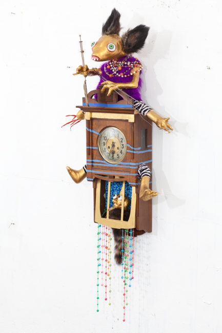 Clockwork, mixed media, 130x68x34cm, 2012