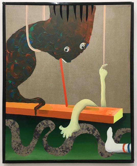 Socke, oil on canvas, 120x100cm, 2016