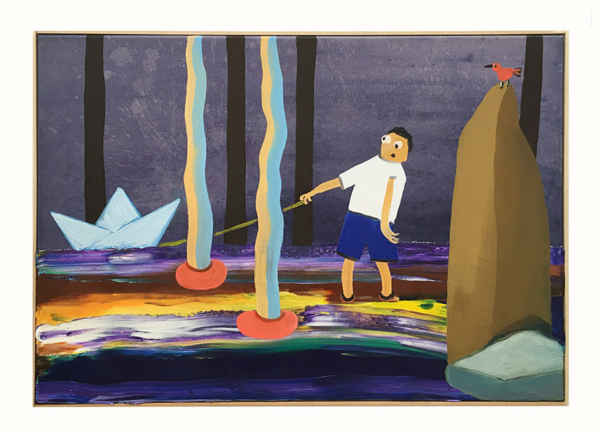 Im Strudel , oil on canvas, 50x70cm, 2016