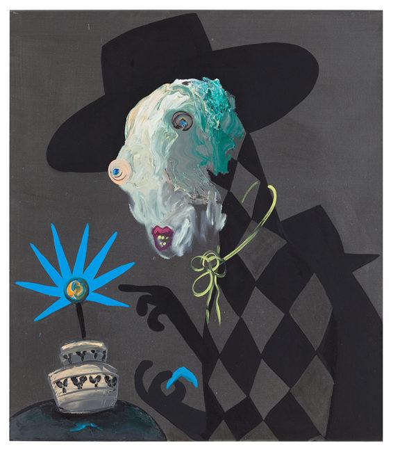 Cowboy, 80x70cm, -oil,acryl on canvas, 2013