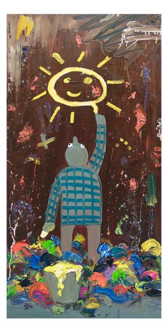 Daydream, oil on canvas, 100x50cm, 2010