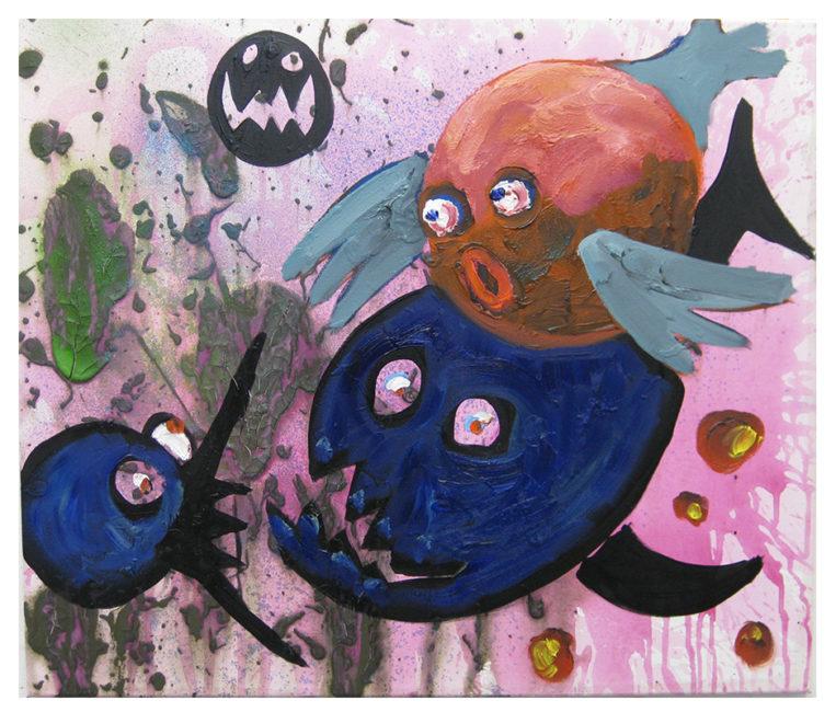 Fische, oil on canvas, 60x70cm, 2009