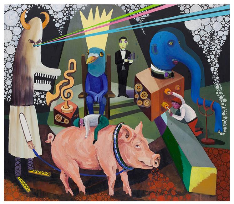 The home of Mr Peeps, 192x220cm. oild on canvas 2015