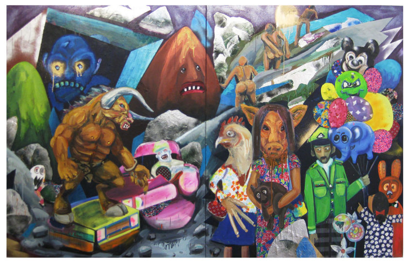 Planet X, oil on canvas, 245x385cm, 2007-2010