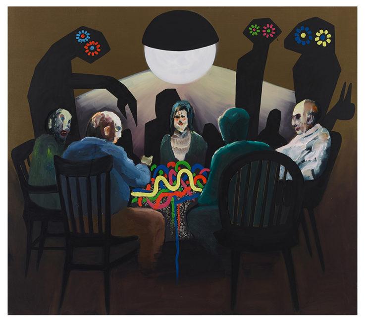 Secret table, oil acryl fabric on canvas 150x170cm, 2013