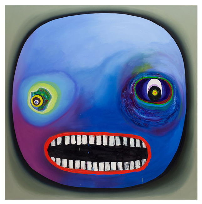 Smiley Blue, oil on canvas, 150x150cm, 2016