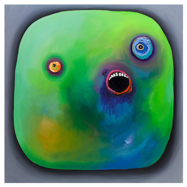 Smiley Green, oil on canvas, 150x150cm, 2016