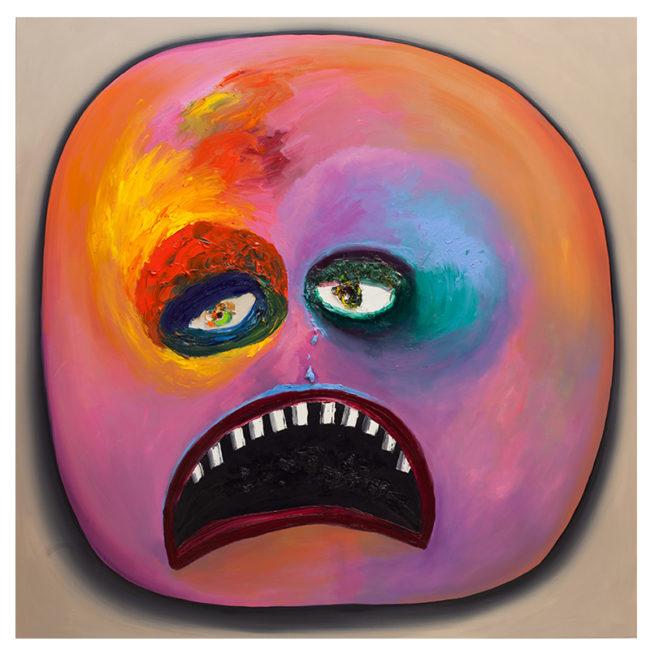 Smiley Orange, oil on canvas, 150x150cm, 2016