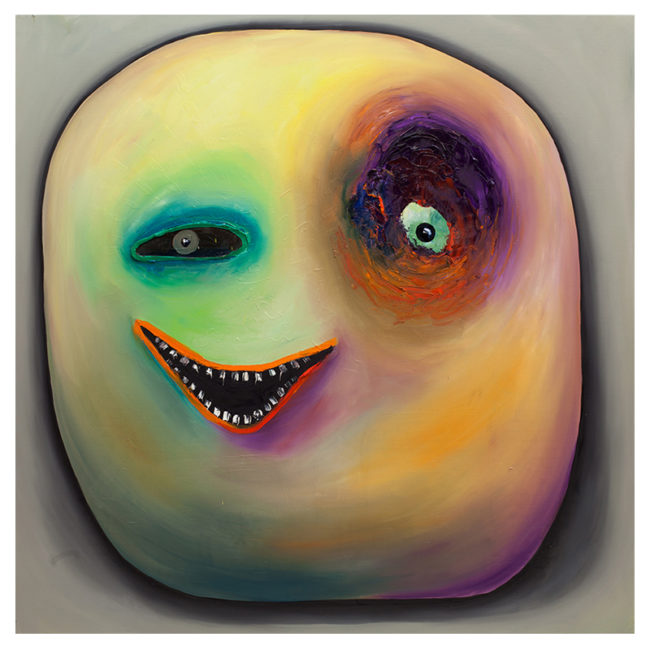 Smiley Yellow, oil on canvas, 150x150cm, 2016