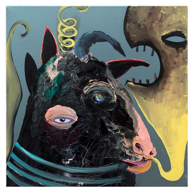 Stier, oil on canvas, 60x60cm, 2013