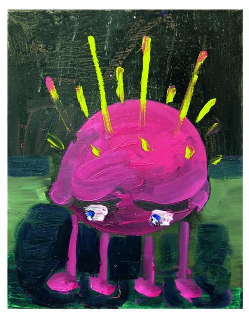 Moonbug, oil on canvas, 50x40cm, 2008