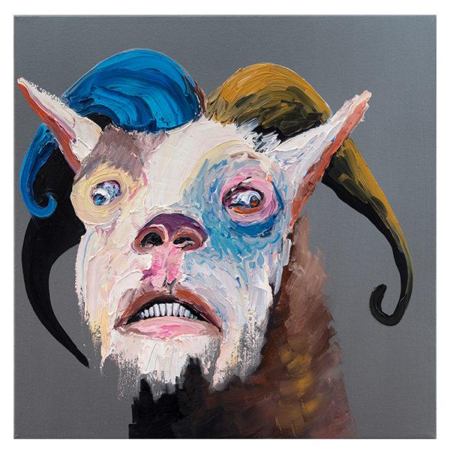 Goat Face, oil on canvas, 60x60cm, 2013