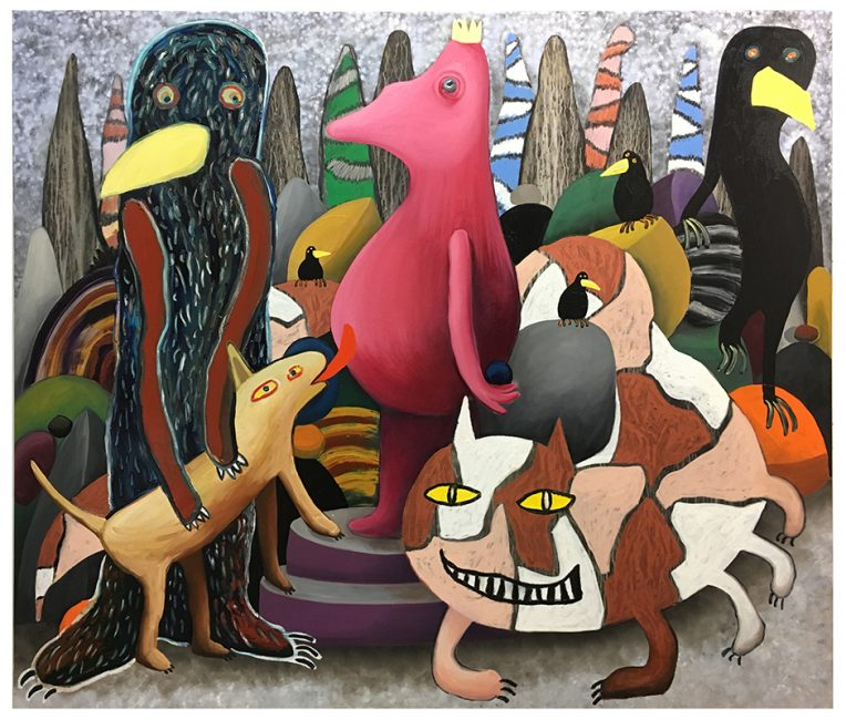 Bird Island 170x200cm, oil on canvas, 2018